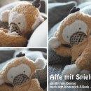 """Affe mit Spieluhr von Denise, genäht nach meiner Anleitung """"Arni Affe""""   binenstich.de"""