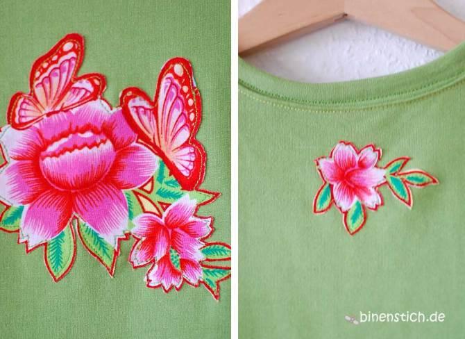 Grünes Spielkleid (Schnitt: Fannie von Schnittreif) aus Sweatshirt-Stoff   binenstich.de