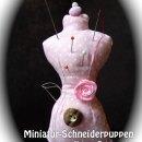 Miniatur-Schneiderpuppe, genäht von Petra nach dem gleichnamigen binenstich-Ebook   binenstich.de