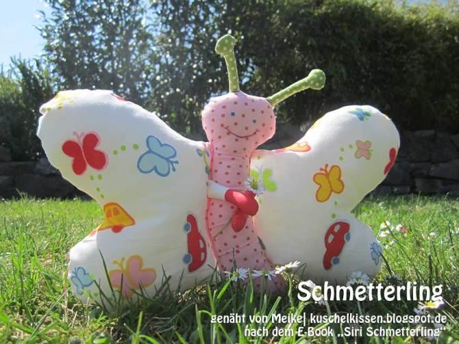 """Schmetterling, genäht von Meike  kuschelkissen.blogspot.de   nach dem binenstich-Ebook """"Siri Schmetterling""""   binenstich.de"""