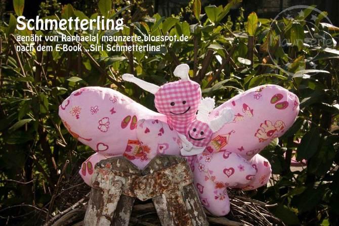 """Schmetterling, genäht von Raphaela  maunzerle.blogspot.de   nach dem binenstich-Ebook """"Siri Schmetterling""""   binenstich.de"""
