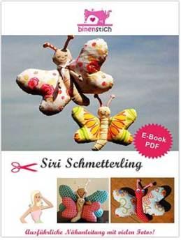 """Schmetterling nähen: Anleitung """"Siri Schmetterling"""" ab sofort im Shop   binenstich.de"""