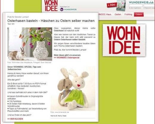 Hanna & Henry Hase auf Wohnidee.de