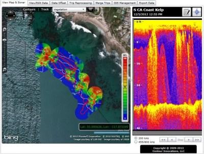 Kelp, BioBase, mapping, Lowrance