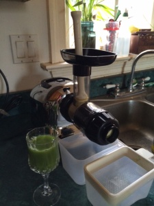 That's my green juice station.
