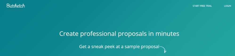Bidsketch: Proposal software