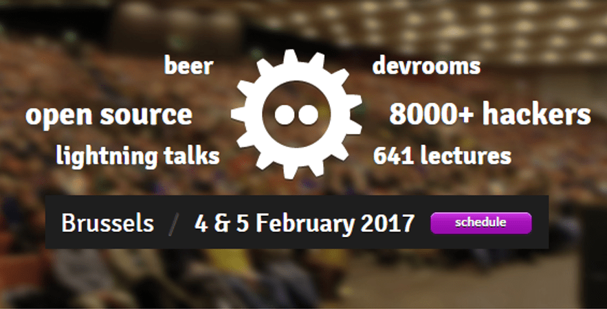 Meet us at FOSDEM!