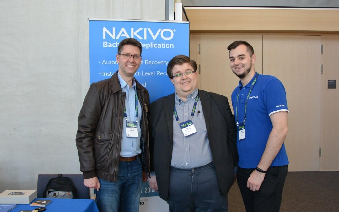VMUG 2019 Frankfurt bitpiloten Vortrag für Nakivo – geiler Tag