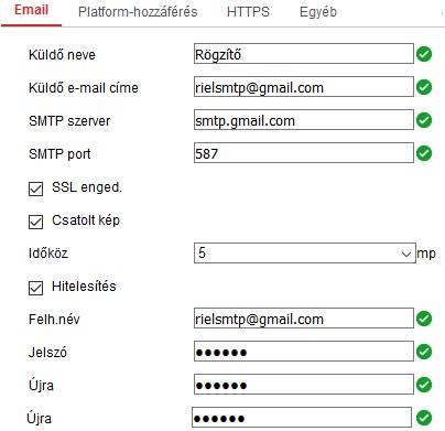 Segédlet Hikvision eszközök e-mail küldésének beállításához. 6