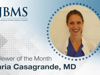 The Reviewer of the Month for January 2021: Dr. Maria Casagrande