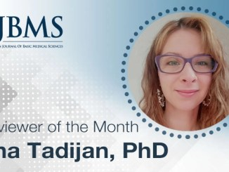 The Reviewer of the Month for June 2021: Dr. Ana Tadijan