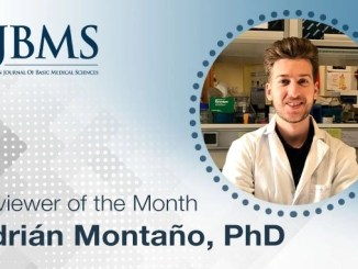 The Reviewer of the Month for September 2021: Dr. Adrian Montano