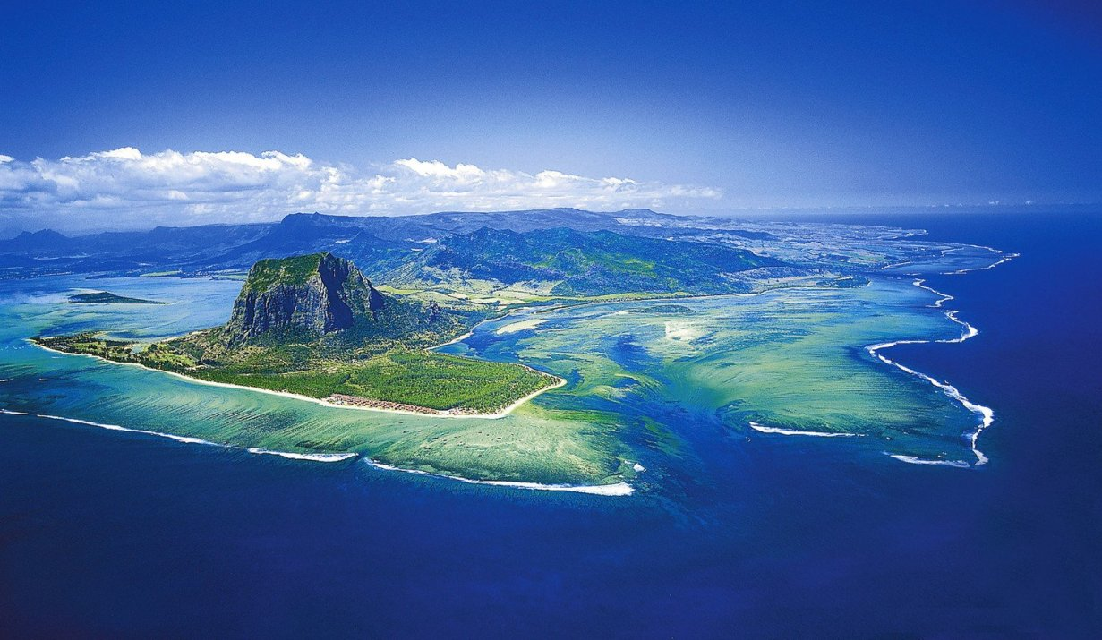 top view Mauritius