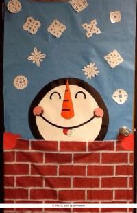 A Snowman Classroom Door Decoration