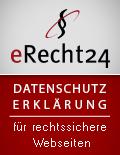 """eRecht24-Siegel """"Datenschutz"""""""