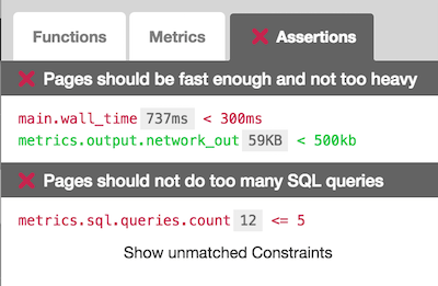 Performance Tests and Assertions | Blackfire io Le Blog