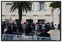 Protest pod opsadom