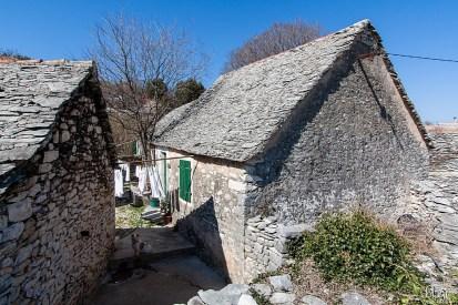 Kamene kuće, Škrip, otok Brač, Hrvatska