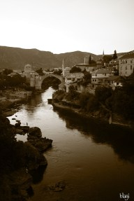 Sumrak,Mostar, Bosna i Hercegovina