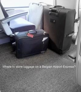 Baggage in train compartiment