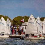 Parents are reuniting with thier children at the end of a day in the Manhattan Sailing School Youth Program (Image: Koen Blanquart)