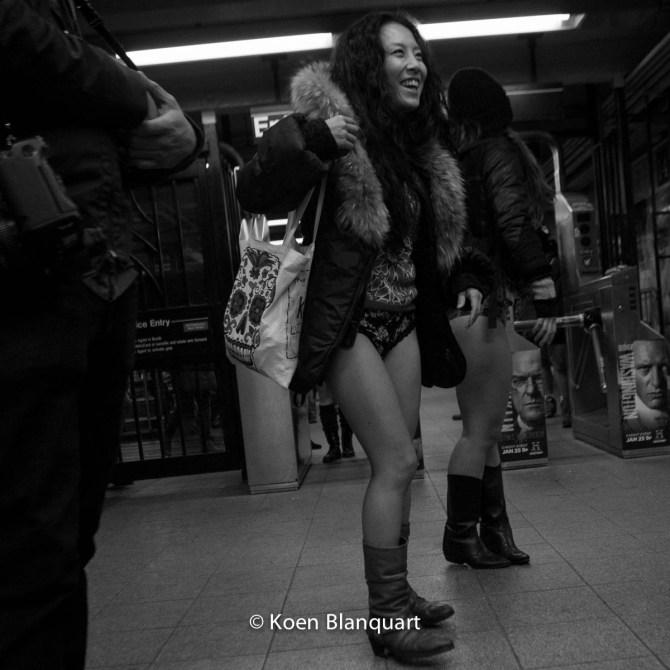 No Pants Subway Ride 2015 - Union Square Station