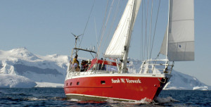 The Sarah Vorwerk, the sailing boat that will take us to Antarctica in February. (Image courtesy of Sarah Vorwerk)