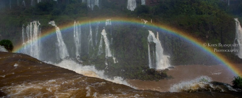 Iguazu Falls and a rainbow , Brazil, by Koen Blanquart