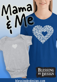 Mother and baby matching shirts