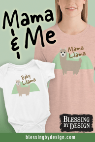 Matching Mother and baby Llama shirts