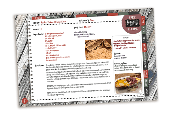 Baked Potato Skin Soup Planner shadow