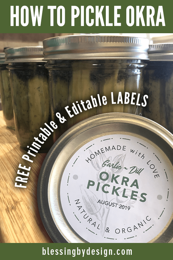 How to Make Garlic Dill Pickled Okra