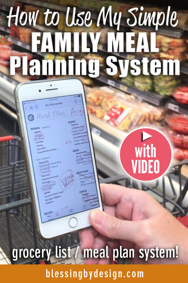 How to Use My Simple Family Meal Planning System