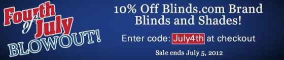 Blinds.com 4th of July sales