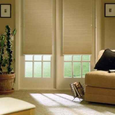 Honeycomb double cell blackout shades