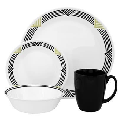 Corelle global stripes dorm plates