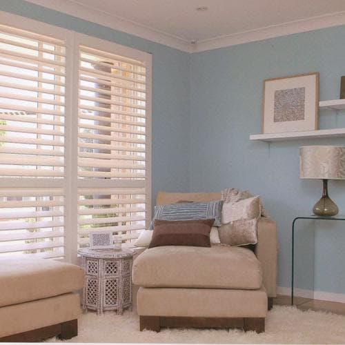 Blinds.com Cordless shutters for safety