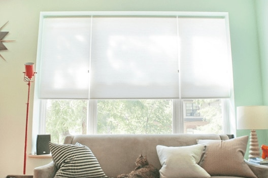 Blinds.com cellular shades on Yellow Brick House!