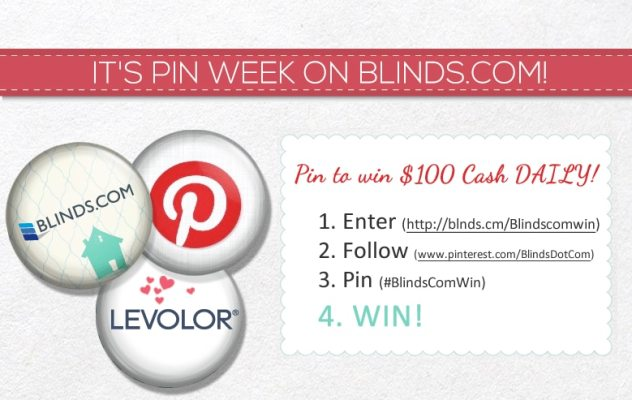 Pinterest contest Blinds.com