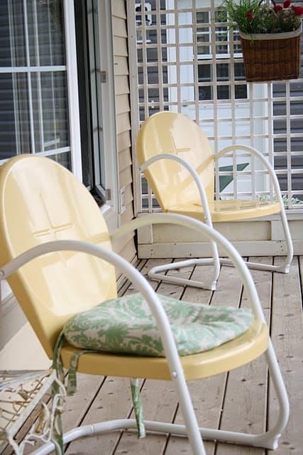 Vintage metal patio chair