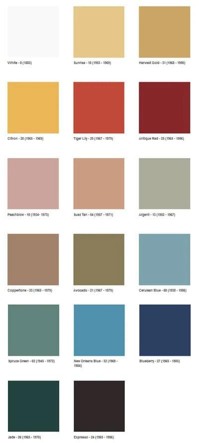 1960s decotating color palette