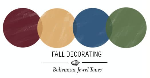 Fall decorating Jewel tones