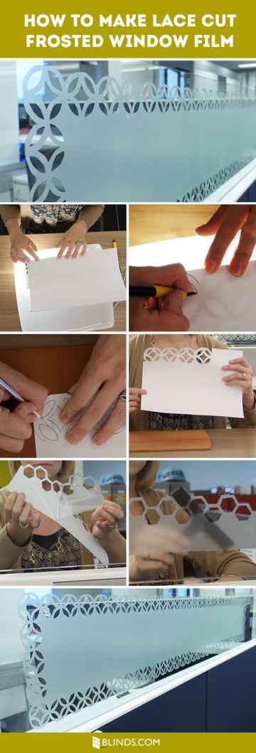 How To Make Lace Cut Frosted Window Film (VIDEO)