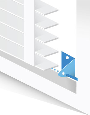 Blinds Hold Down Brackets