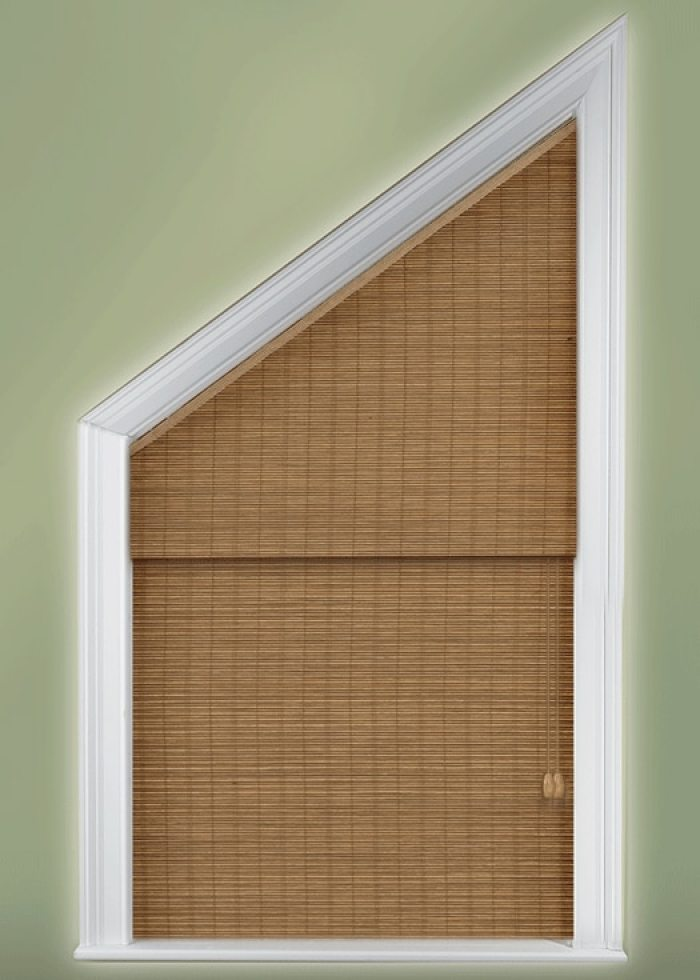 Angle Top Angle Bottom And Triangle Window Treatments
