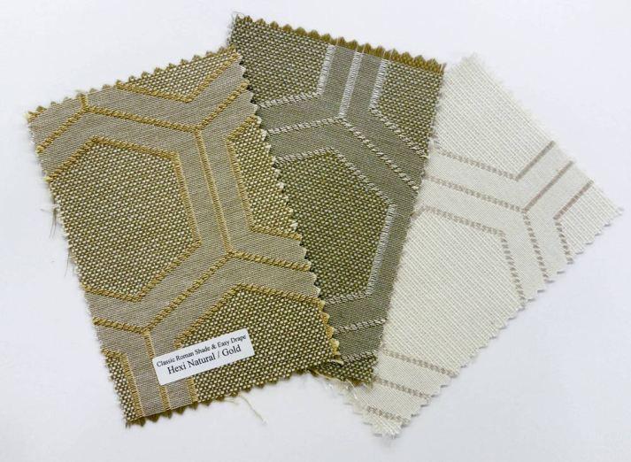 Blinds.com Classic Roman Shade Fabrics Hexagon