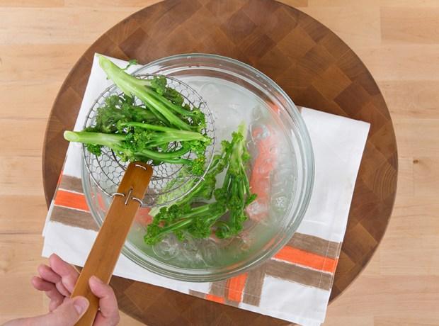 blanched vegetables for crudite platter