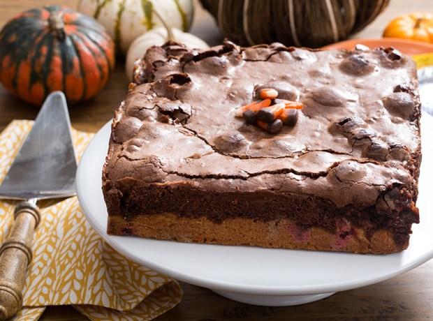 Final Halloween Candy Cake
