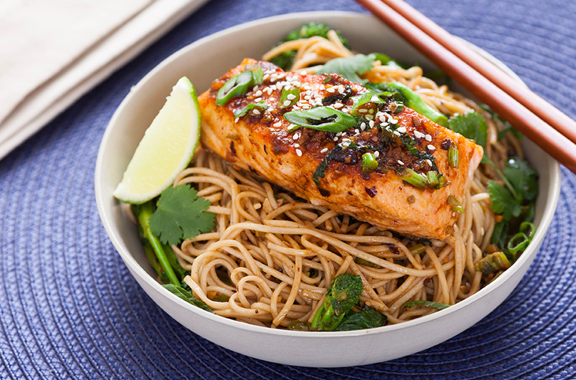 Soy Ginger Glazed Salmon