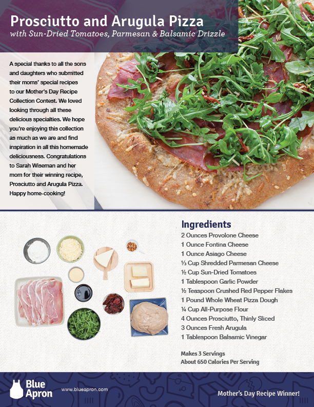 Mother's Day Recipe Card | Blue Apron
